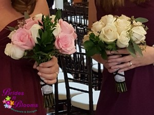 Maid & Matron of Honor rose bouquets